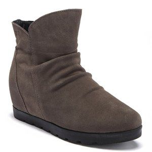 COUGAR Astro Grey Suede Leather Wedge Ankle Bootie